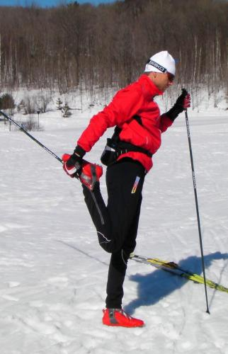 Ski Pole Warm-up Stretching
