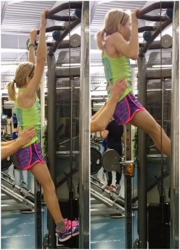 8th Step: Supported Hollow-body Chin-ups